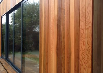 Cedar clad extension & sliding doors