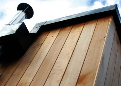 Cedar clad extension